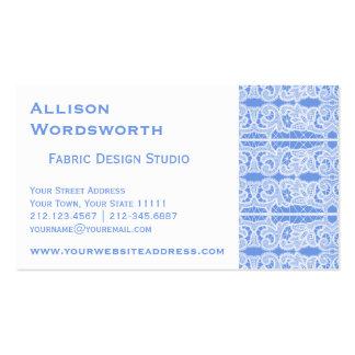 Elegant Blue Victorian Antique Lace Business Cards