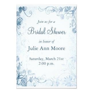 Elegant Blue Vintage Bridal Shower Card