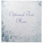 Elegant Blue Vintage Printed Napkins