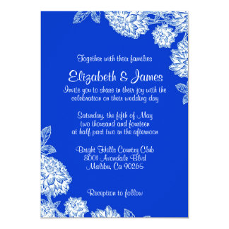 Elegant Blue Wedding Invitations