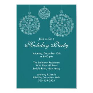 Elegant Blue & White Holiday Christmas Party 13 Cm X 18 Cm Invitation Card