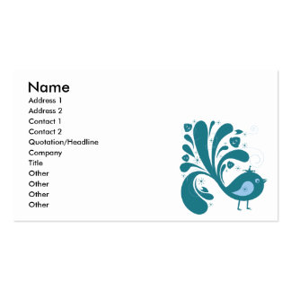 elegant bluebird Double-Sided standard business cards (Pack of 100)