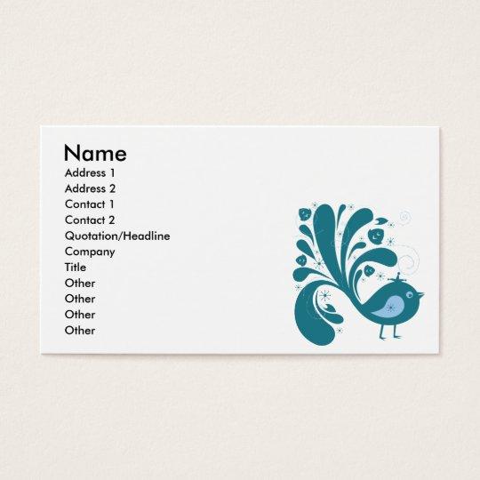 elegant bluebird business card