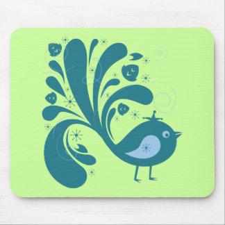 elegant bluebird mouse pads