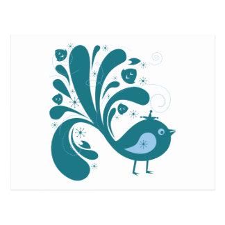 elegant bluebird postcard