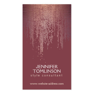 Elegant Blush Confetti Dots on Deep Red Pack Of Standard Business Cards