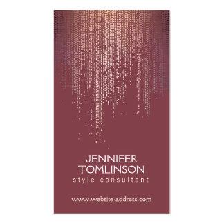 Elegant Blush Confetti Rain Pattern Burgundy Pack Of Standard Business Cards