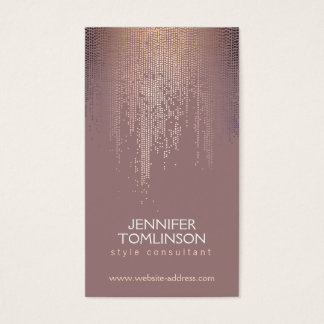 Elegant Blush Confetti Rain Pattern Business Card