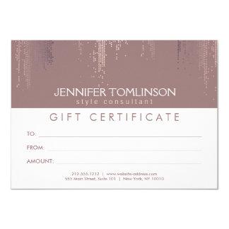 Elegant Blush Confetti Rain Pattern Gift Card 11 Cm X 16 Cm Invitation Card