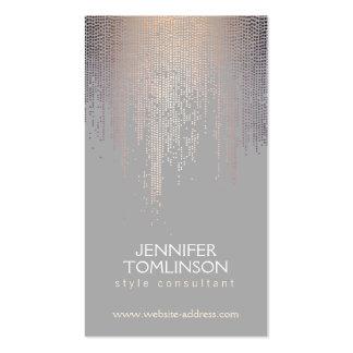 Elegant Blush Confetti Rain Pattern Gray Pack Of Standard Business Cards