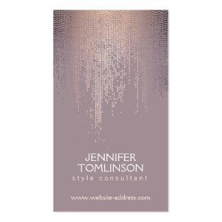 Elegant Blush Confetti Rain Pattern Mauve Pack Of Standard Business Cards