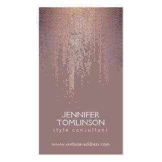 Elegant Blush Confetti Rain Pattern Pack Of Standard Business Cards