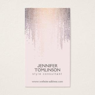 Elegant Blush Confetti Rain Pattern Pink