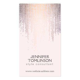 Elegant Blush Confetti Rain Pattern Pink Pack Of Standard Business Cards