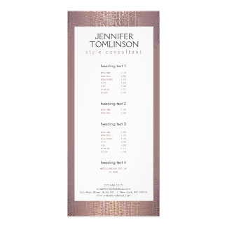 Elegant Blush Confetti Rain Pattern Rack Card