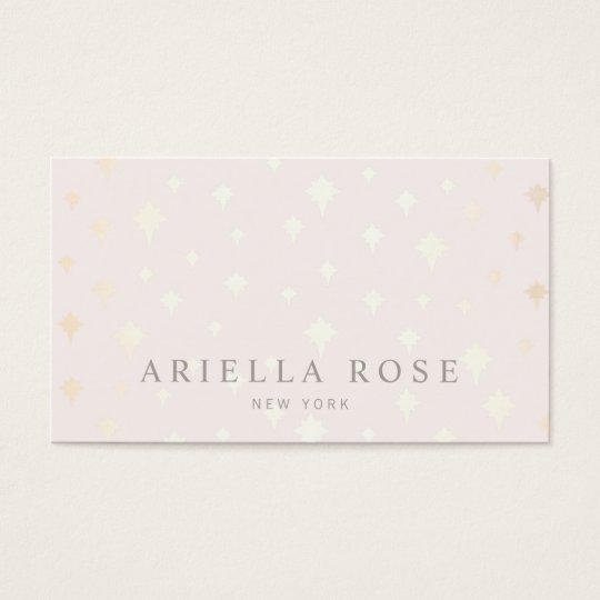 Elegant Blush Pink Luxe Gold Star Pattern Business