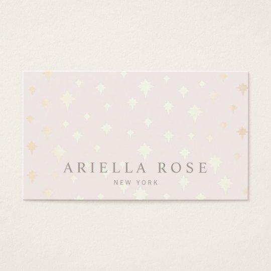 Elegant Blush Pink Luxe Gold Star Pattern Business