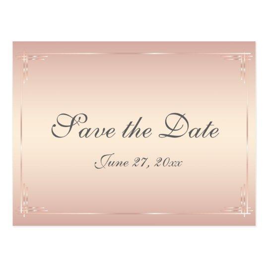 Elegant Blush Wedding Save The Dates Postcards