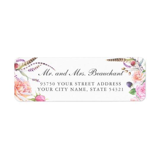 Elegant Boho Botanic Floral Roses Wedding