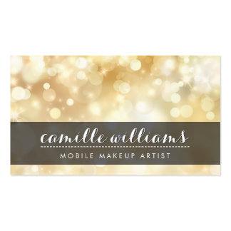 ELEGANT BOKEH PATTERN whimsical stylish gold black Double-Sided Standard Business Cards (Pack Of 100)