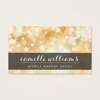 ELEGANT BOKEH PATTERN whimsical stylish gold black Business Card