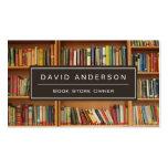 Elegant Bookstore Book Store Owner Bookshelf Pack Of Standard Business Cards