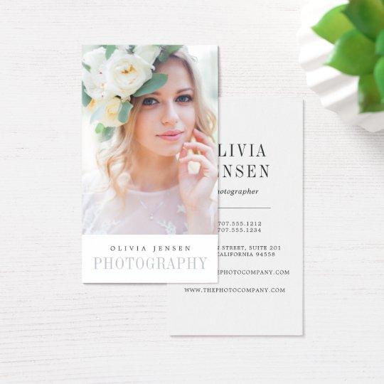 Elegant Border   Photographer Vertical Business Card