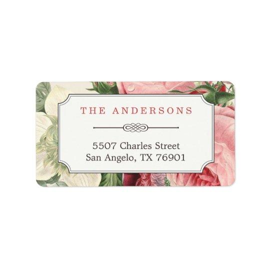Elegant Botanical Garden Flowers Vintage Classy Address Label