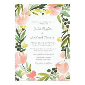 Elegant Botanical Watercolor Floral Wedding