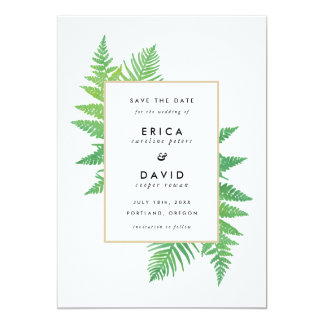 Elegant Botanicals Save the Date Cards 13 Cm X 18 Cm Invitation Card