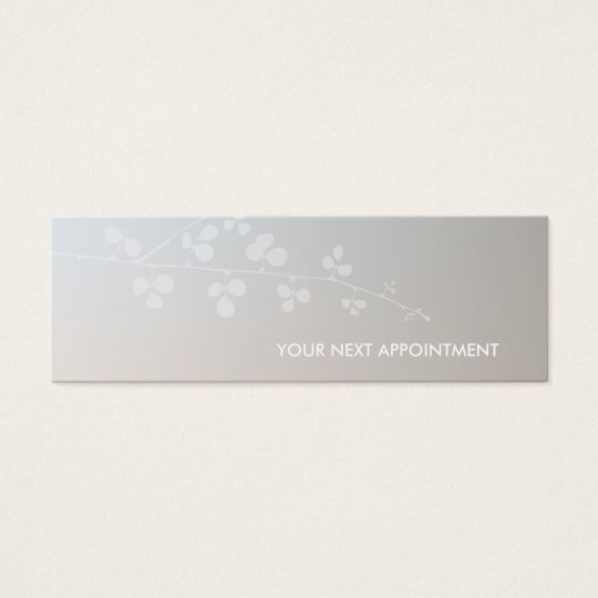Elegant Branch Salon Spa Appointment Reminder Mini Business