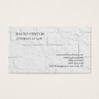 Elegant Brick Wall Plain Professional Minimalist Business Card