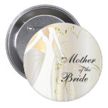 Elegant Bridal Party with Gold Accents 7.5 Cm Round Badge