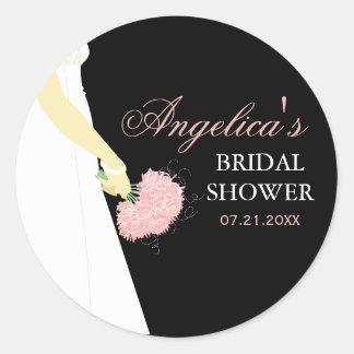 Elegant Bridal Shower Classic Round Sticker