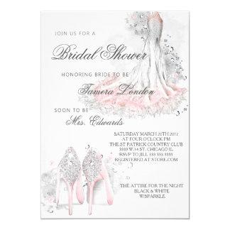 Elegant bridal shower invitation, Sparkle & shine Card