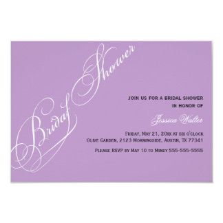 Elegant Bridal Shower Violet Invitation