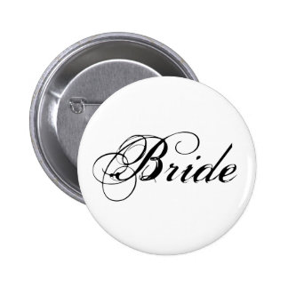 Elegant Bride Bridal Party Button
