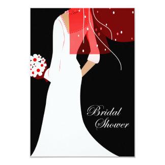 elegant bride bridal shower 9 cm x 13 cm invitation card