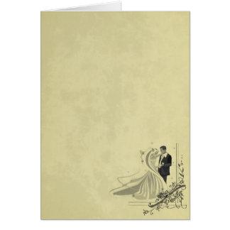 Elegant Bride & Groom Wedding Greeting Card