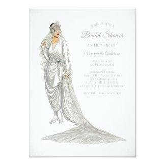 Elegant Bride Vintage Bride in White Gown Card