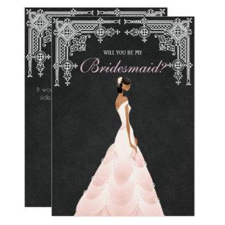 Elegant Bride Will You Be My Bridesmaid Card