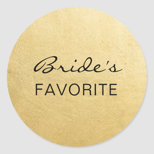 Elegant BRIDE's FAVORITE Wedding Gift Favours Classic Round