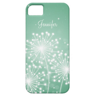 Elegant Bridesmaid Favor Summer Sparkle Mint Green iPhone 5 Covers