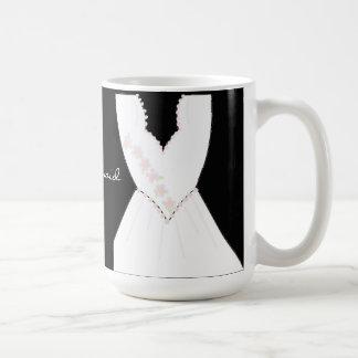Elegant Bridesmaid Gown Coffee Mug