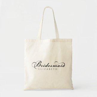 Elegant Bridesmaid Script Tote Bag