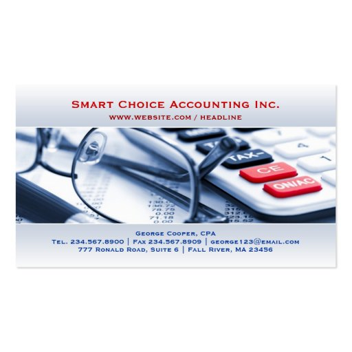 Elegant Bright Accounting Business Card