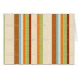 Elegant Bright Fabric Stripe Print Cards