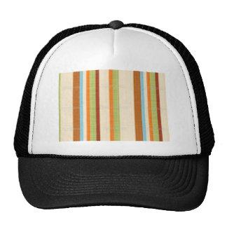 Elegant Bright Fabric Stripe Print Hat
