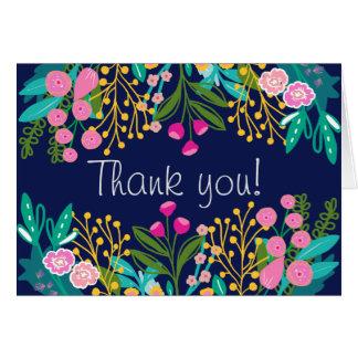 Elegant Bright Floral Thank You Card