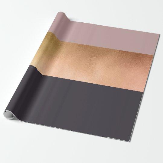 elegant bright rose gold pink grey colour block